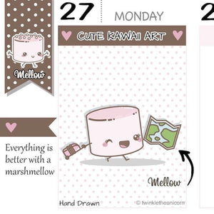 travel planner stickers M029 TwinkleTheUnicorn