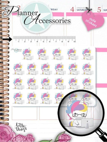 Unicorn Stickers 1613 EmelysPlannerShop