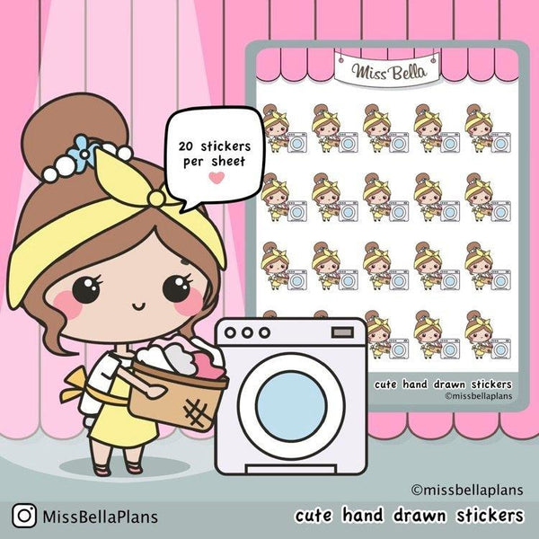 Washing Machine Stickers 015 EmelysPlannerShop