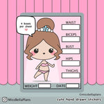 Weight Loss Stickers 040 EmelysPlannerShop