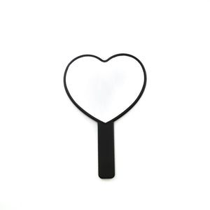 Black Handheld Heart Mirror