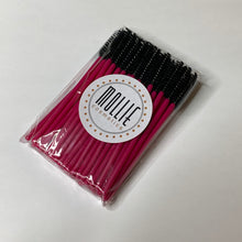 50x Pink & Black Disposable Mascara Wands
