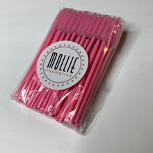 50x Light Pink Disposable Mascara Wands