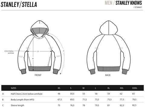 Family Merch size guide unisex hoodie