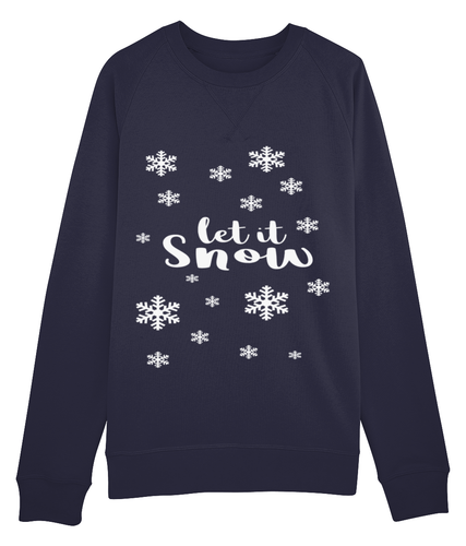 Let It Snow Christmas Jumper White Lettering