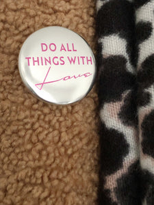 Da All Things With Love metallic badge by Family Merch