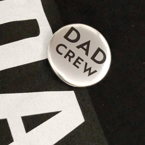 dad crew metallic badge by family merch
