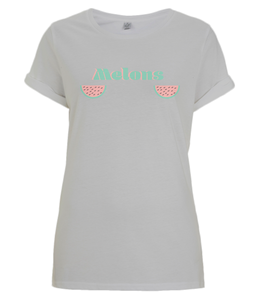 Women's Rolled Sleeve Melons T-Shirt