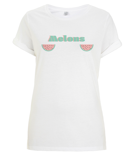 Women's Rolled Sleeve T-Shirt melons