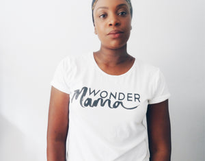 Women's Rolled Sleeve Wonder Mama T-Shirt