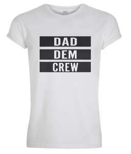 Men's Rolled Sleeve Dad Dem Crew T-Shirt