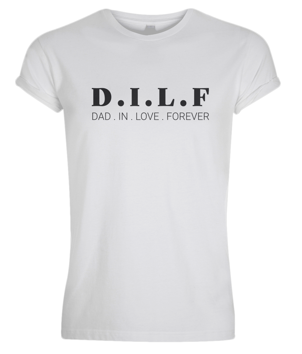 Men's Rolled Sleeve DILF T-Shirt