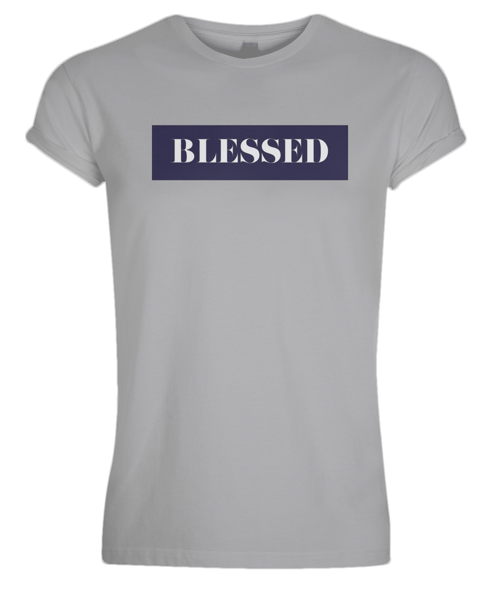 Men's Rolled Sleeve Blessed T-Shirt