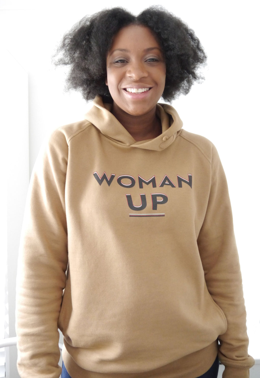 Woman Up Organic Cotton Sweatshirt - Camel
