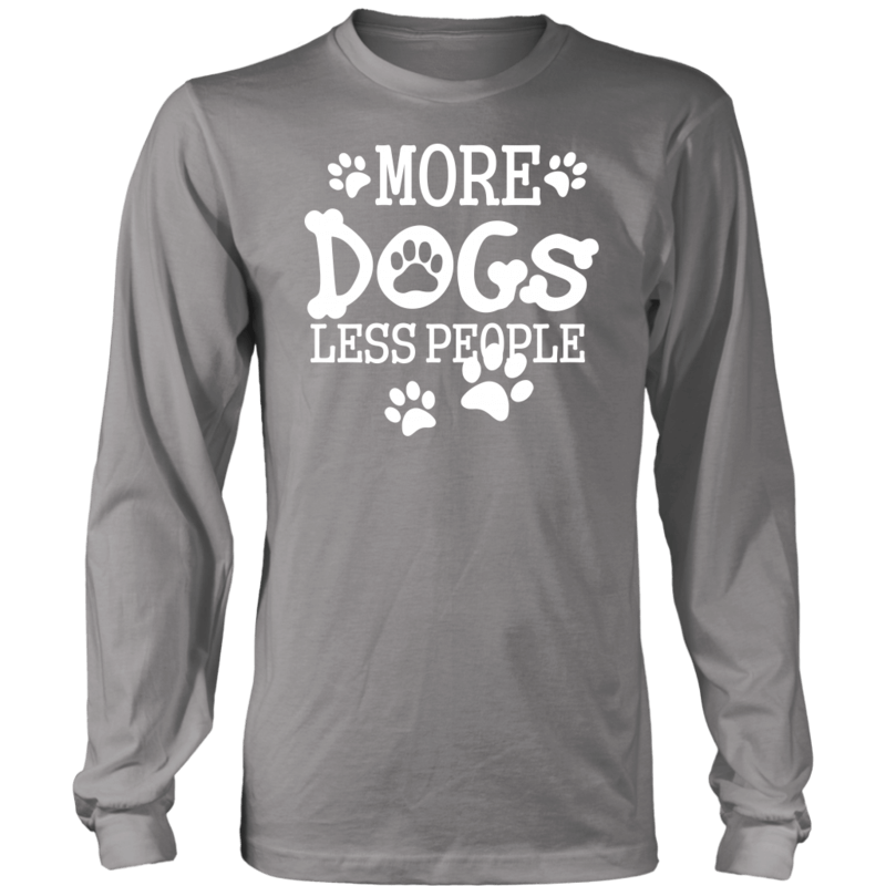 More dogs Less People