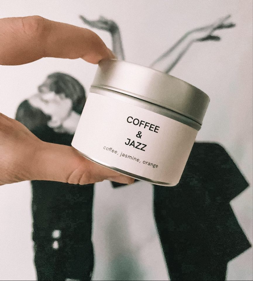 Scented soy candle COFFE&JAZZ 100g