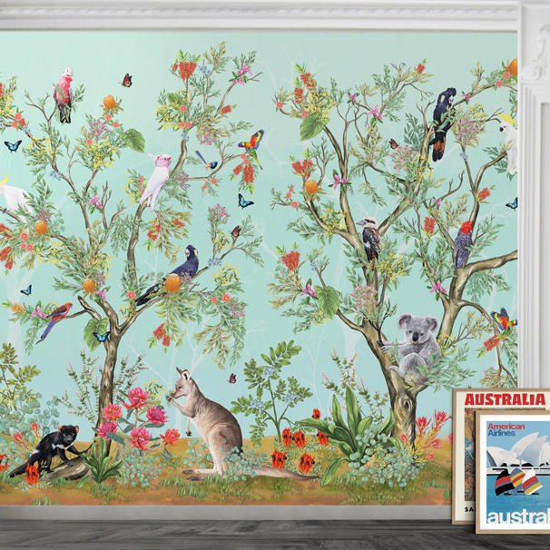 Australia Custom Botanical Wall Mural