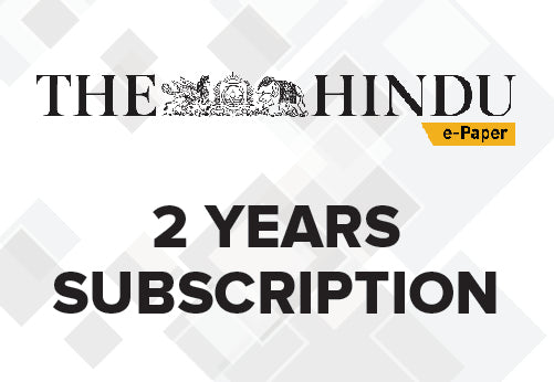 the hindu epaper 2 years subscription