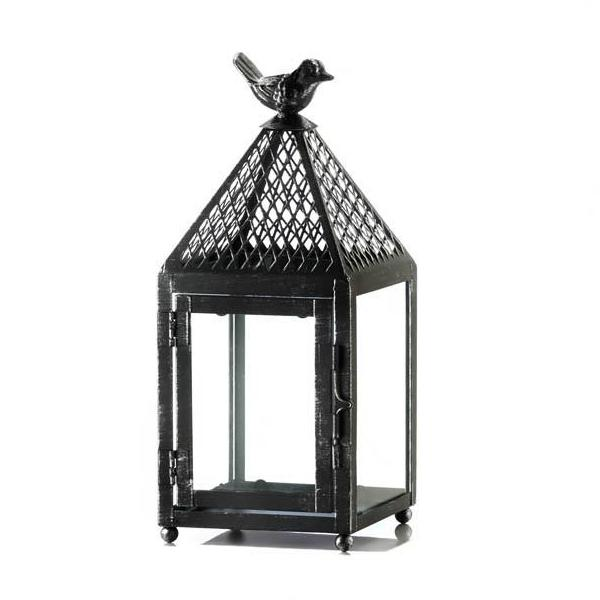 Black Bird Iron Lantern - Small