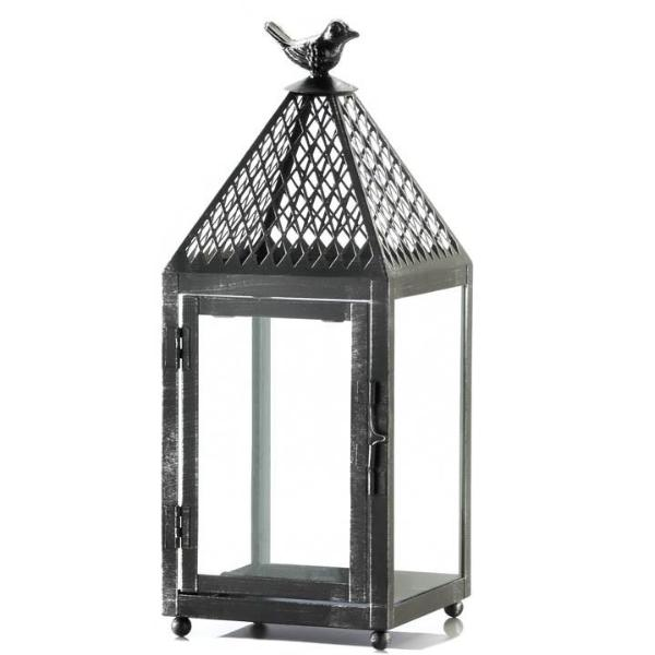 Black Bird Iron Lantern - Medium