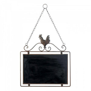 Hanging Rooster Chalkboard