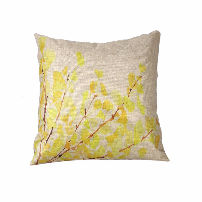 Ginkgo Leaves Pillow Cover