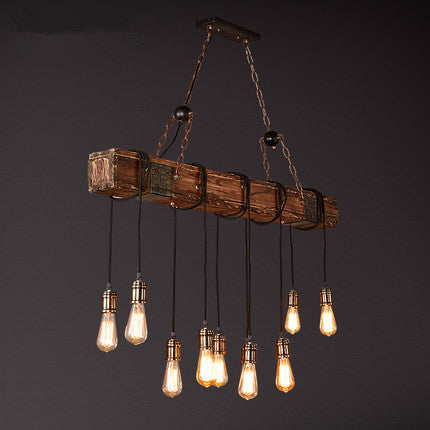 Wooden Industrial Light