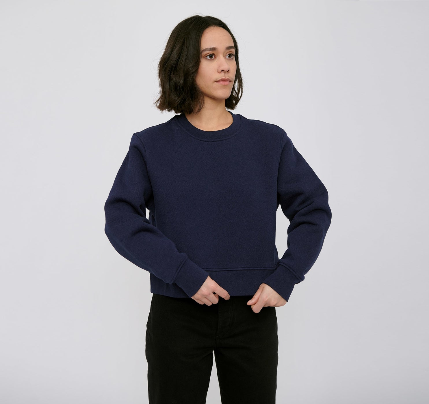 Organic Cotton Heavy Cropped Sweat