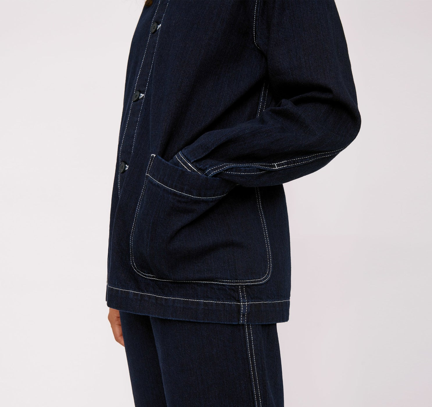 Circular Denim Jacket