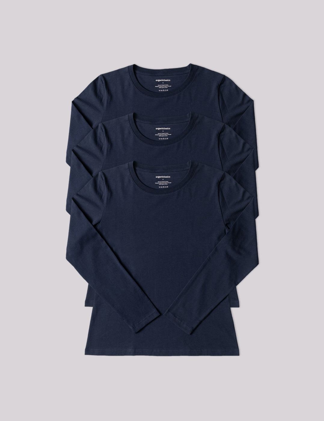 Organic Cotton Long-Sleeve Tee 3-pack