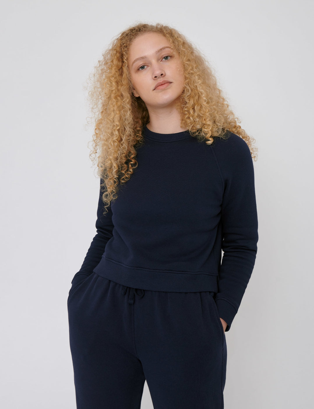 Organic Cotton Mid-Weight Cropped Sweat