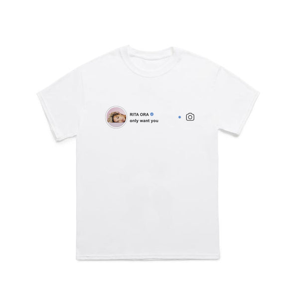 Instagram Tee White