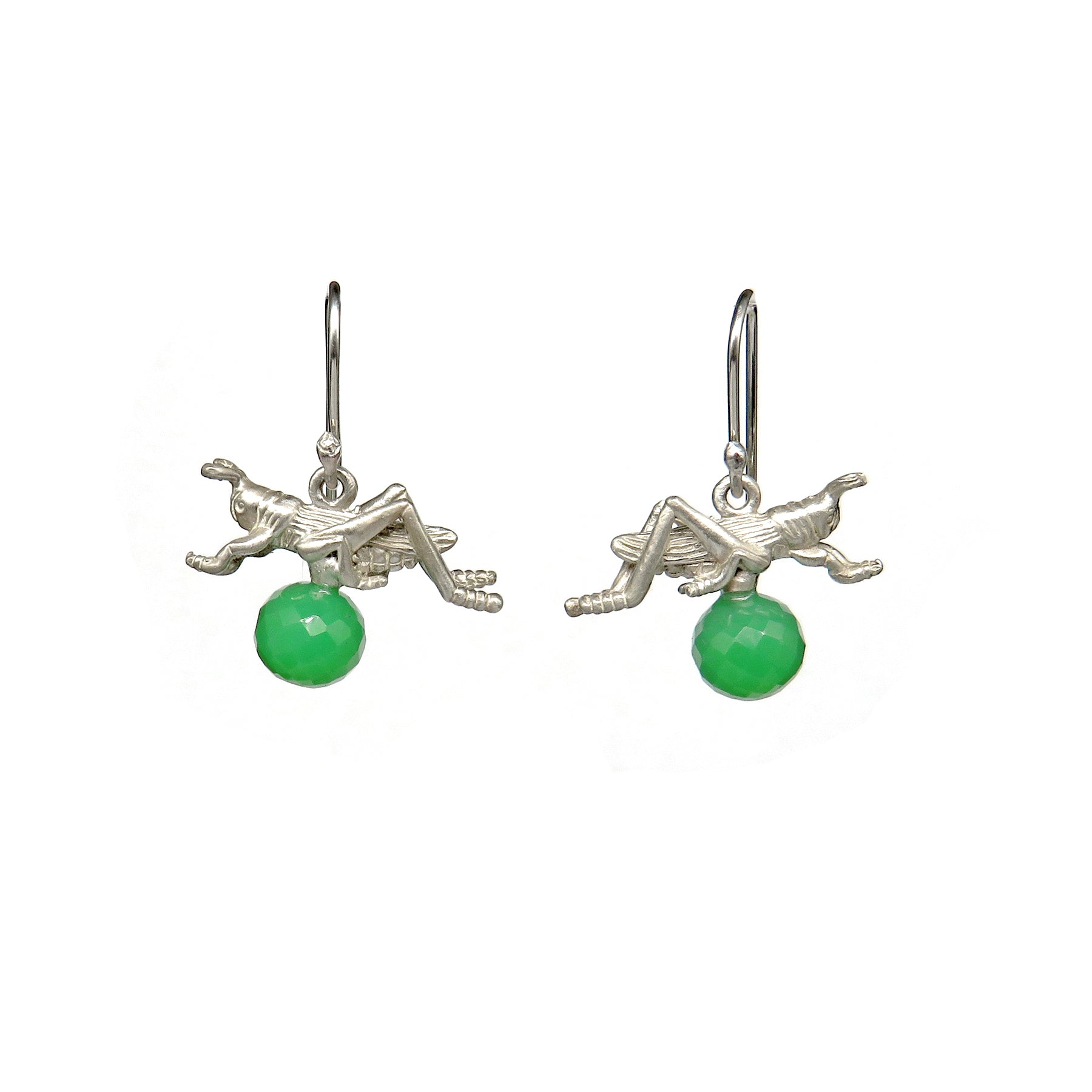 Grasshoppers on hooks with green balls