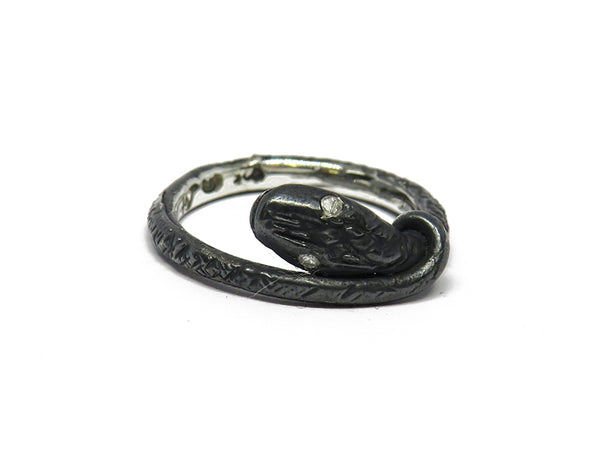 Black snake ring with sparkly eyes