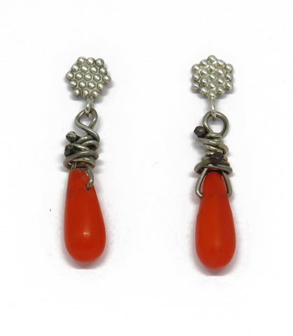 Sweet little trade bead earrings