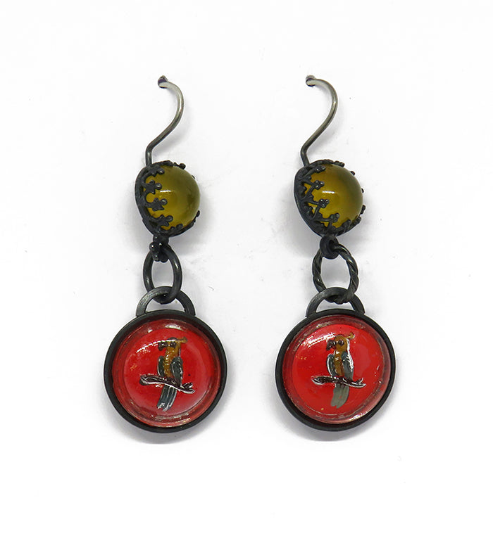 Parrot fiesta earrings