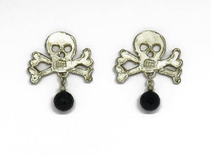 Fierce skull 'n crossbone studs