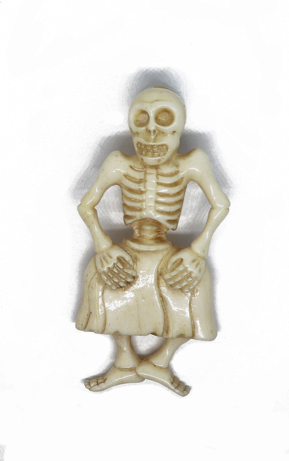Vintage ivory dancing skeleton