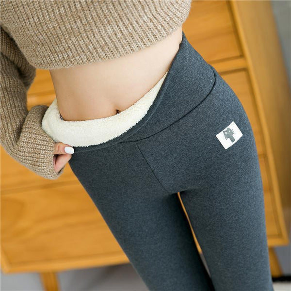 Lined winter leggings cotton model cashmere