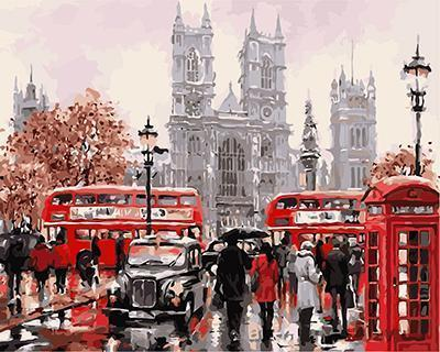 Paint by Numbers - London Red Bus