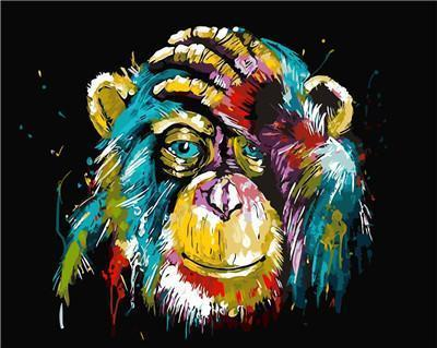PAINTING BY NUMBERS - Chimpanzee