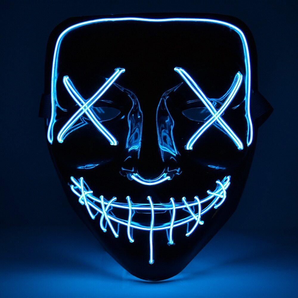 Halloween glowing The Purge LED mask
