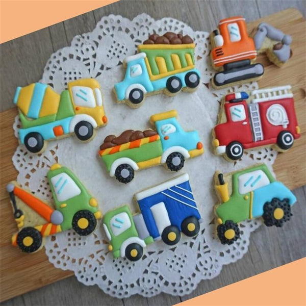 Vehicle cookie cutter set of 8