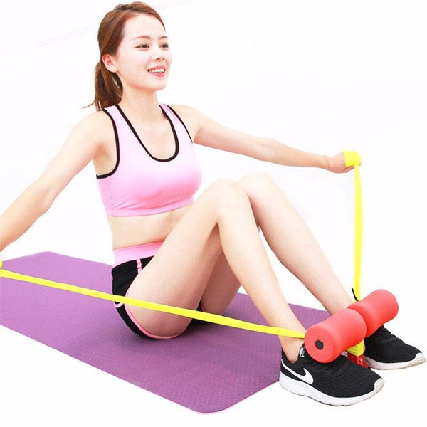 Mobile sit-up bar for the home