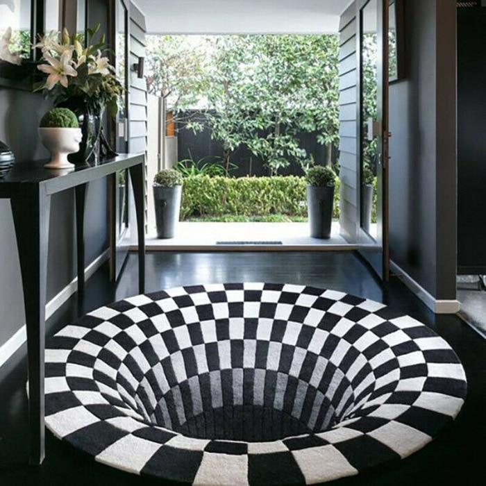 3D whirlpool hallucination carpet