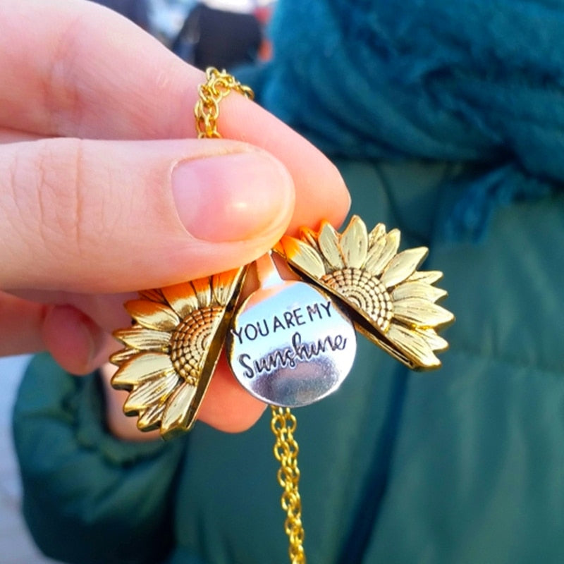 """You Are My Sunshine"" Sonnenblumen Kette"