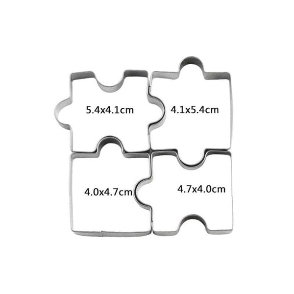 Puzzle part cookie cutter set of 4