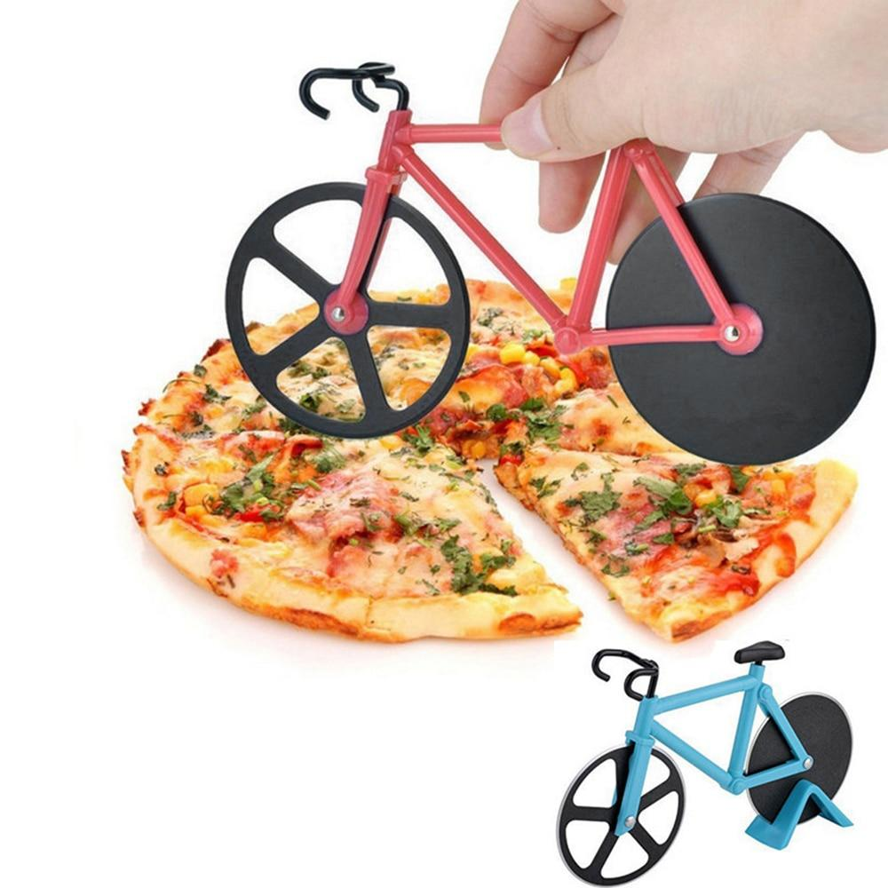 Practical bicycle pizza cutter