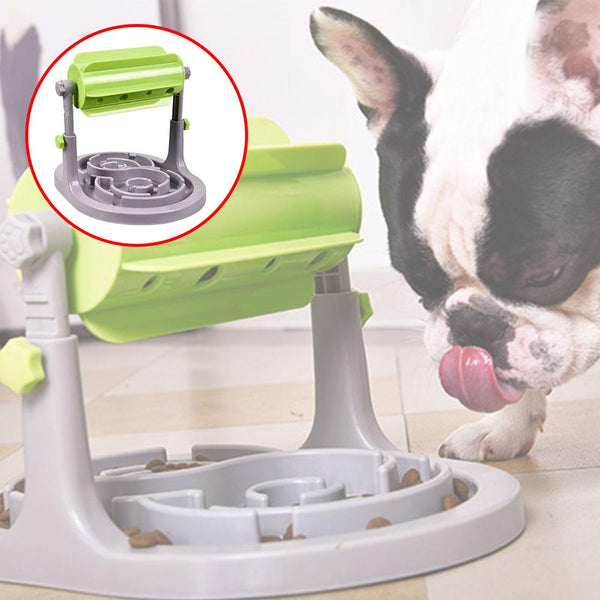 Interactive dog diet food bowl