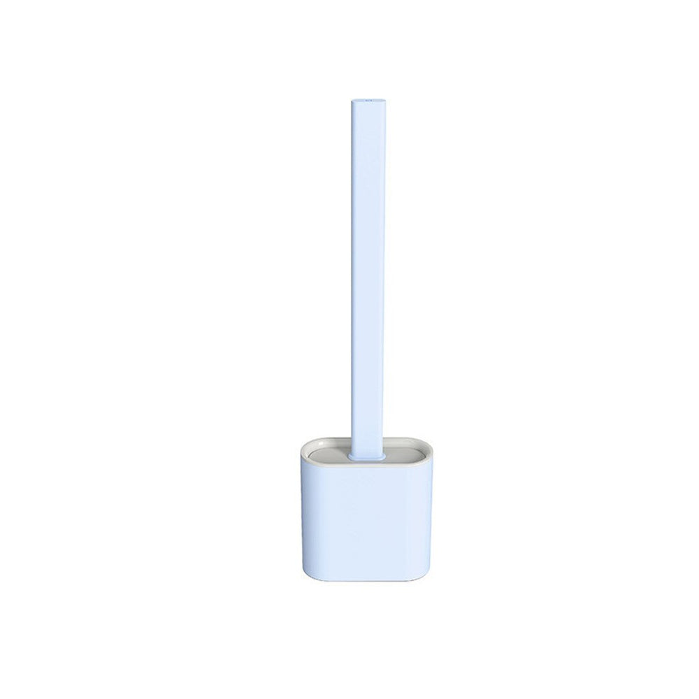 Flat silicone toilet brush incl. Holder